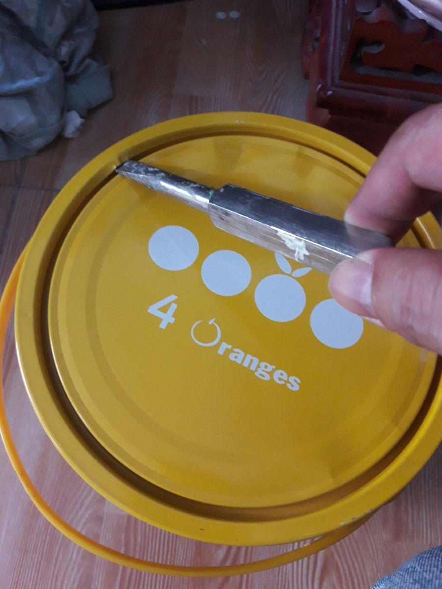 khui nắp sơn mykolor để pha màu