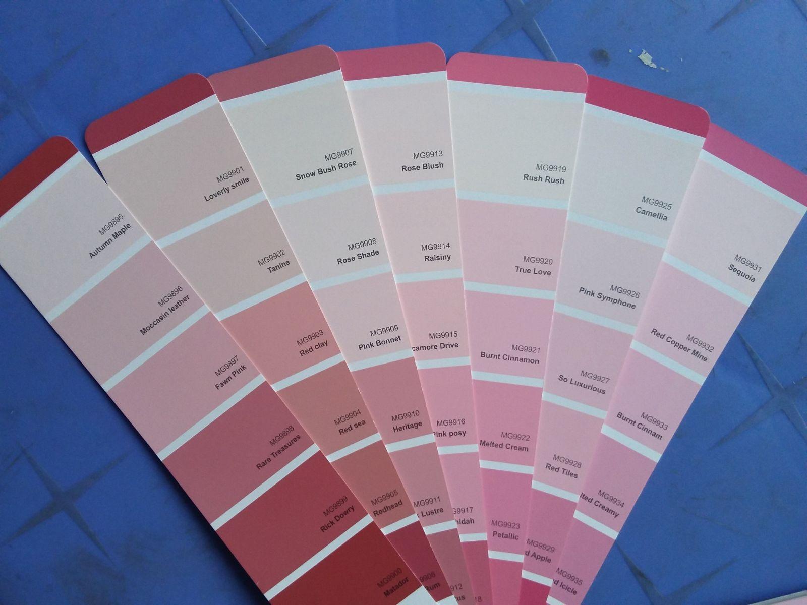 Sơn Mykolor màu hồng, đỏ hợp phong thủy với những người có mệnh HỎA, mệnh Thổ